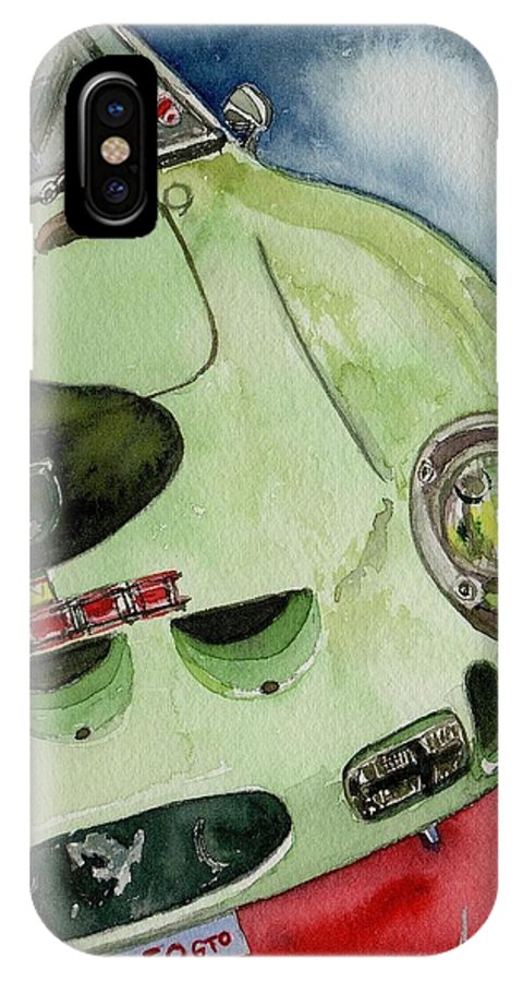 Apple Green IPhone X Case featuring the painting The 1962 Ferrari 250 Gto Was Built For Sir Stirling Moss by Anna Ruzsan