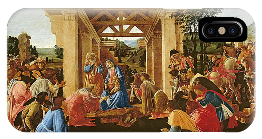 Nativity IPhone X Case featuring the painting The Adoration Of The Magi by Sandro Botticelli