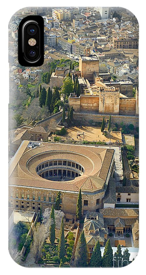 The Alhambra IPhone X Case featuring the photograph The Alhambra Aerial by Guido Montanes Castillo