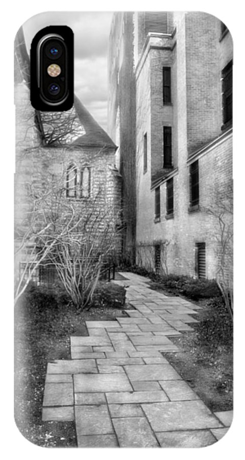 Alley IPhone X Case featuring the photograph The Alley by Laura Schramm-Behnke