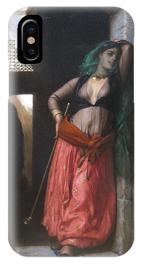 The Almeh IPhone X Case featuring the painting The Almeh by Jean-Leon Gerome