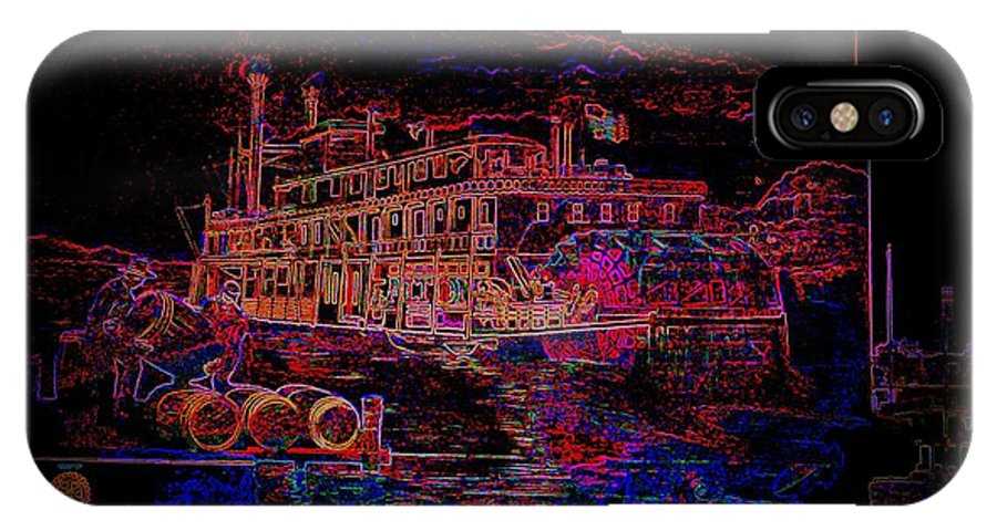 IPhone X / XS Case featuring the photograph The Alton Belle In Neon Framed by Kelly Awad
