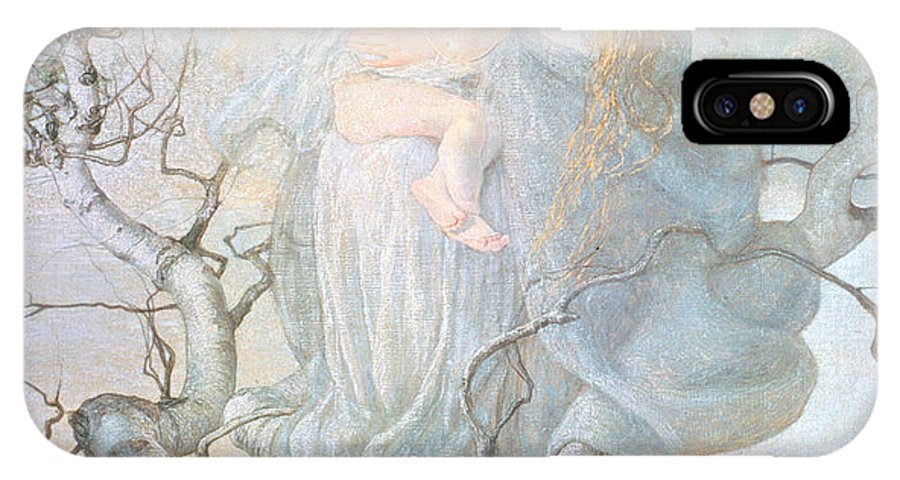 Mother And Child IPhone X Case featuring the painting The Angel Of Life by Giovanni Segantini