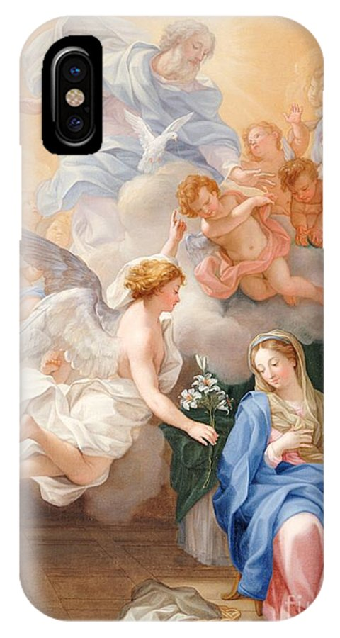 Century IPhone X Case featuring the painting The Annunciation by Giovanni Odazzi