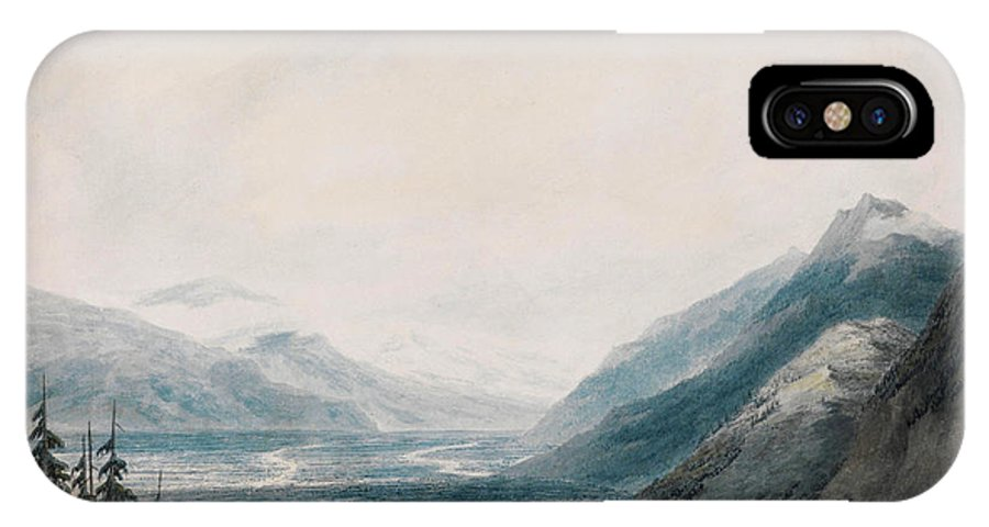 John Robert Cozens The Approach To Martigny IPhone X / XS Case featuring the painting The Approach To Martigny Rhone Valley Valais by Celestial Images