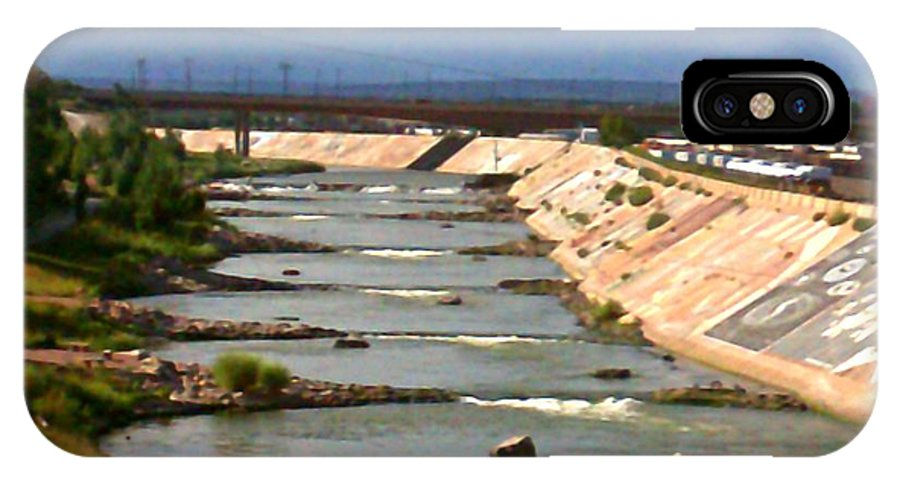 IPhone X Case featuring the photograph The Arkansas River And Pike's Peak by Kelly Awad