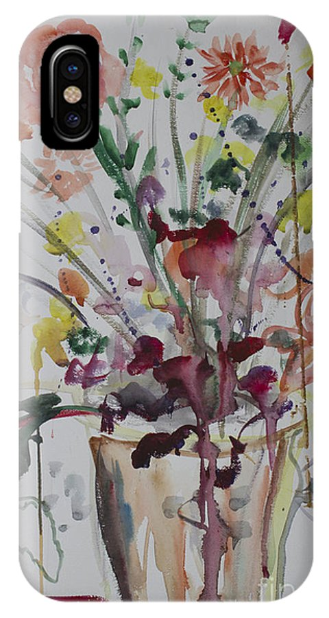 Drips IPhone X Case featuring the painting The Art Lesson by Avonelle Kelsey
