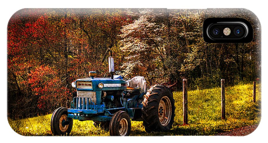 Appalachia IPhone X Case featuring the photograph The Autumn Blues by Debra and Dave Vanderlaan