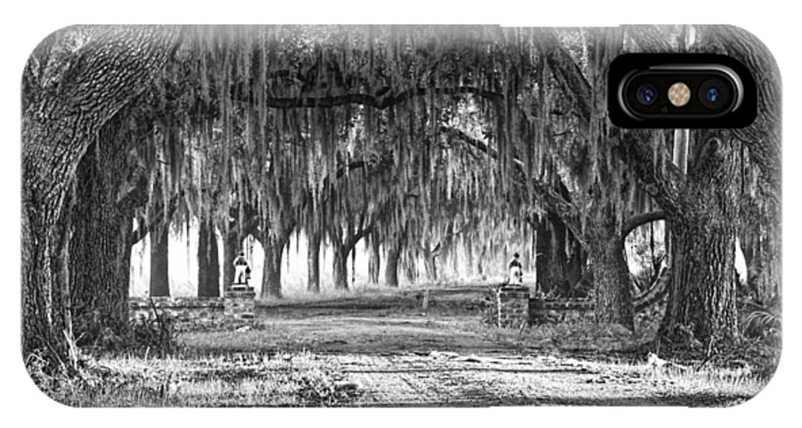 Avenue Of Oaks IPhone X Case featuring the photograph The Avenue Of Oaks by Scott Hansen