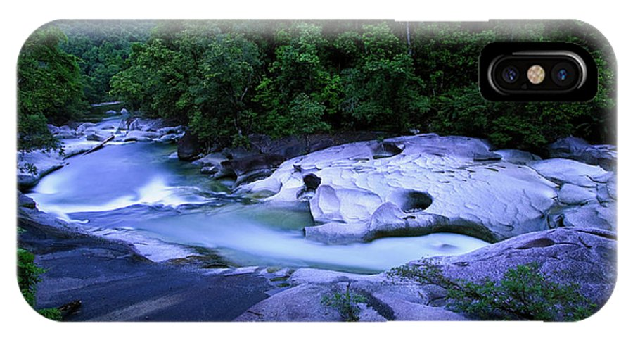 Australia IPhone X Case featuring the photograph The Babinda Boulders Is A Fast-flowing by Paul Dymond