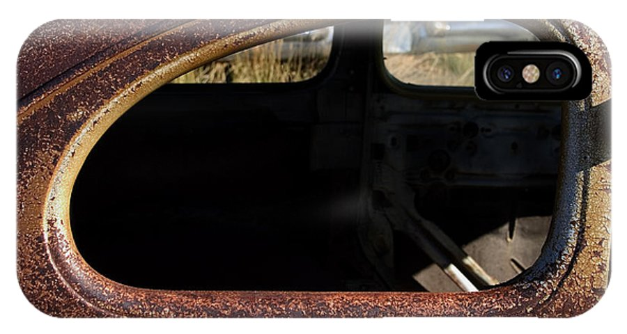 Car IPhone X Case featuring the photograph The Back Window by J L Woody Wooden