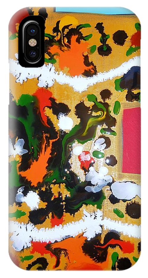 Abstract Impressionism IPhone X Case featuring the painting The Ballet by Fatiha Boudar
