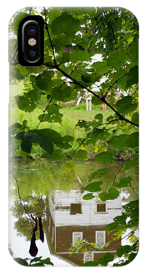 Cabins IPhone X Case featuring the photograph The Barn In The Water by Robert Margetts