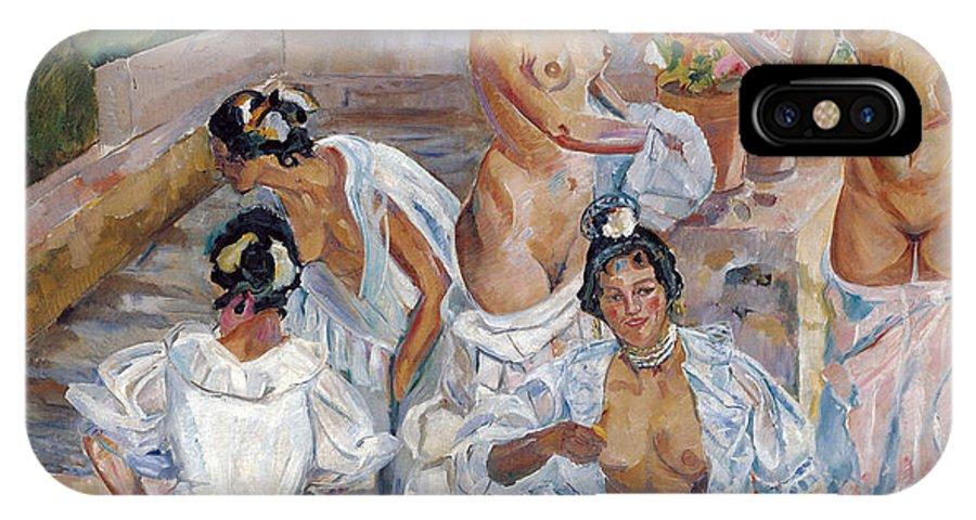 Francisco Iturrino IPhone X Case featuring the digital art The Bath by Francisco Iturrino