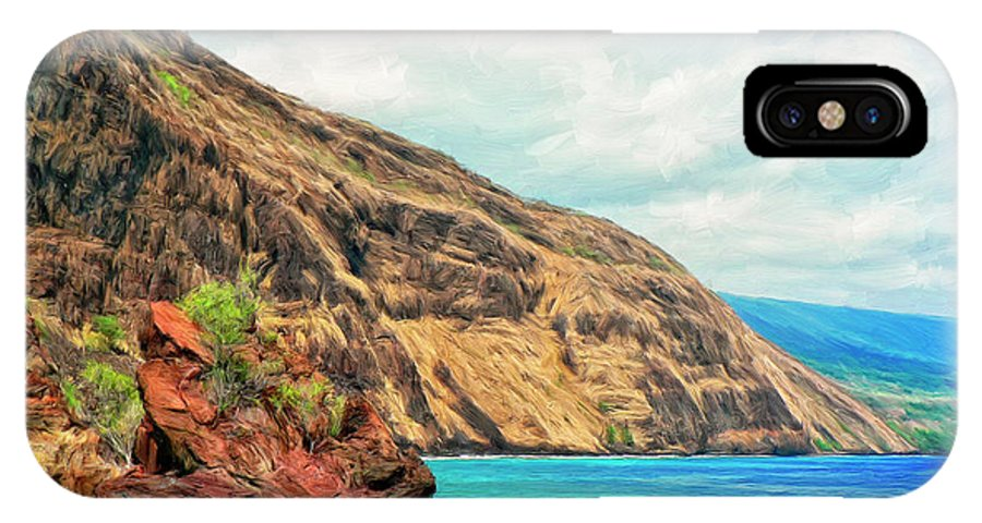 Bay At Kealakekua IPhone X Case featuring the painting The Bay At Kealakekua by Dominic Piperata
