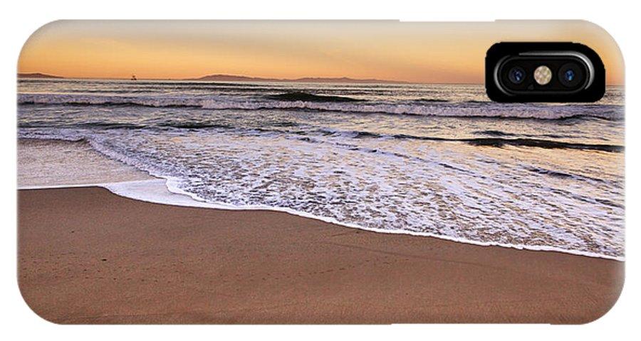 Beach IPhone X Case featuring the photograph The Beach by David Millenheft
