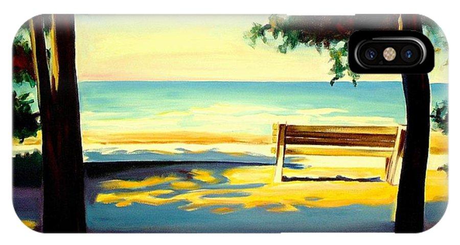 Beach IPhone X Case featuring the painting The Beach by Sheila Diemert