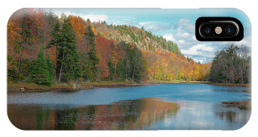 Adirondack's IPhone X Case featuring the photograph The Beautiful Bald Mountain Pond by David Patterson