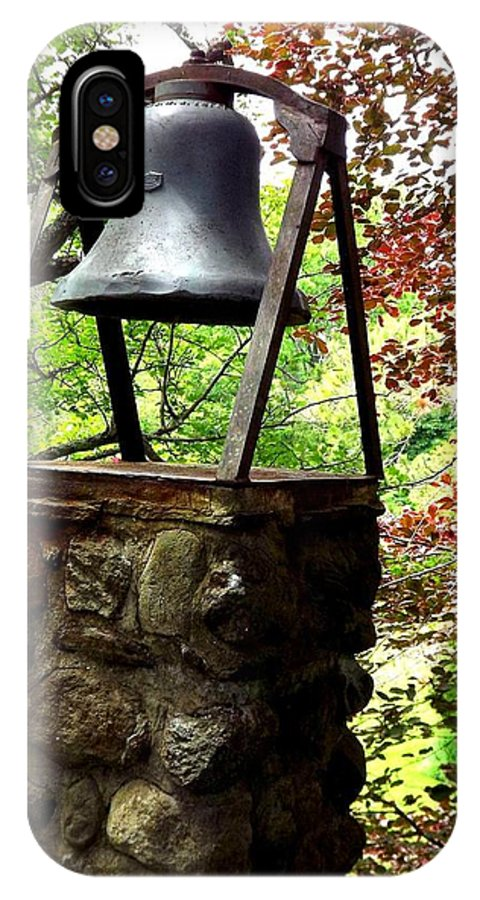 Bell IPhone X Case featuring the photograph The Bell Tolls by Dancingfire Brenda Morrell