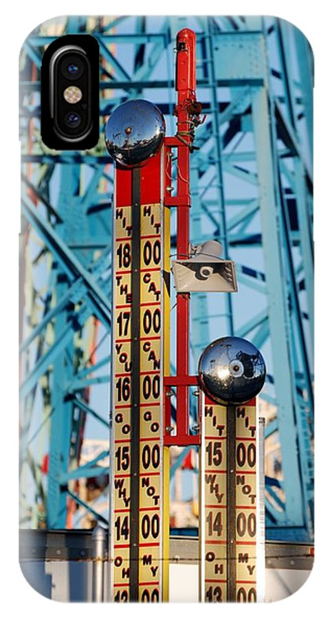 Brooklyn IPhone X Case featuring the photograph The Bells Of Coney Island by Rob Hans