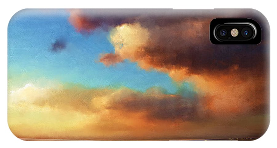 Sunset IPhone X Case featuring the painting The Best Of The West by Artist ForYou