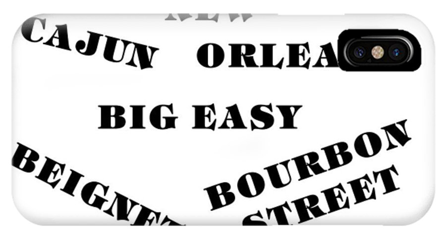 New Orleans IPhone X Case featuring the digital art The Big Easy by Florene Welebny