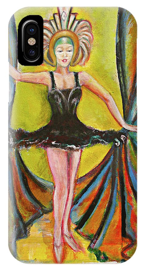 Ballet IPhone X Case featuring the painting The Black Tutu by Tom Conway