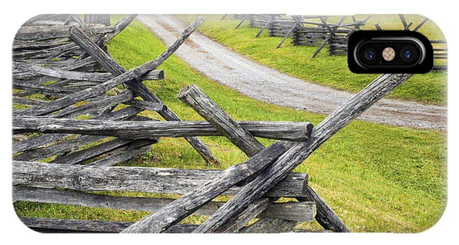 Antietam IPhone X Case featuring the photograph The Bloody Lane At Antietam by Paul W Faust - Impressions of Light