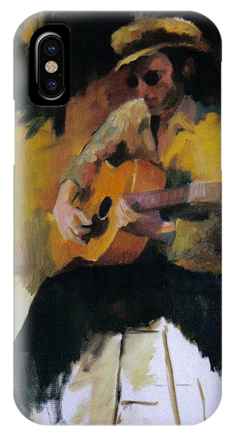 Man IPhone Case featuring the painting The Blues Man by John L Campbell