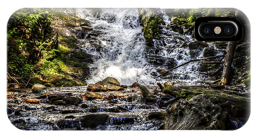 Mingo Falls IPhone X Case featuring the photograph The Bottom Of Mingo Falls by Valerie Mellema