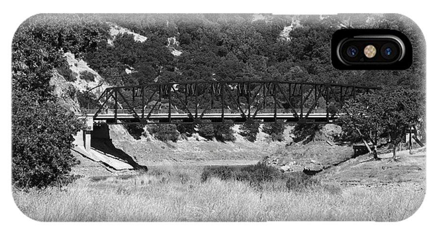 Black IPhone X Case featuring the photograph The Bridge 13 by Richard J Cassato