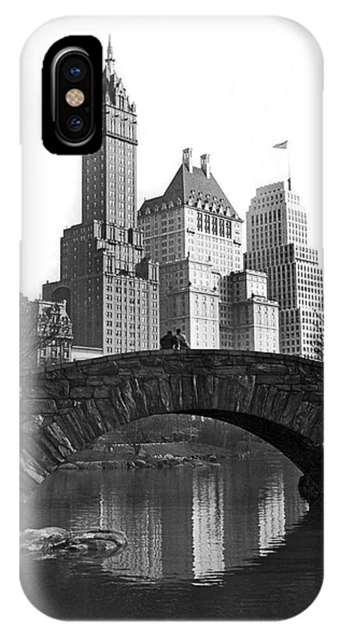 1927 IPhone X Case featuring the photograph The Bridge Over Duck Pond by Underwood Archives