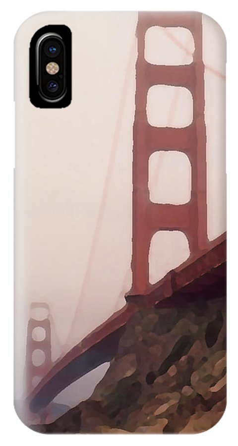 Art IPhone X Case featuring the photograph The Bridge by Piero Lucia