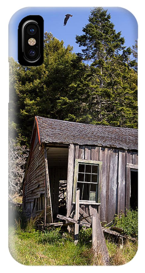 Shed IPhone X Case featuring the photograph The Bunkhouse by Kathleen Bishop
