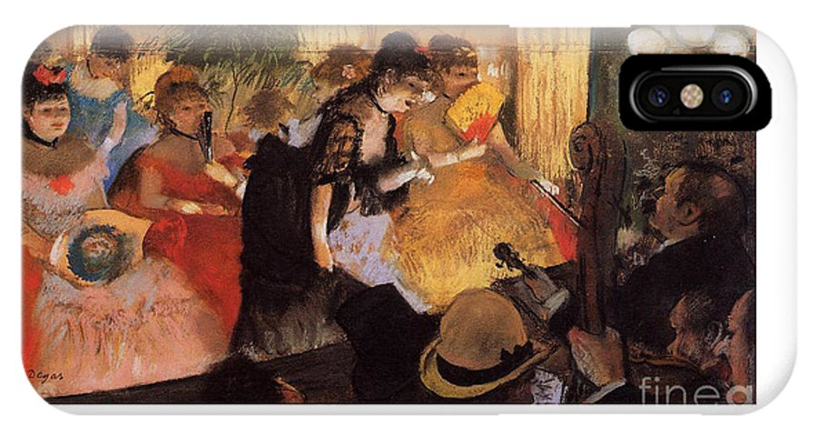 Degas IPhone X Case featuring the painting The Cafe Concert by Degas