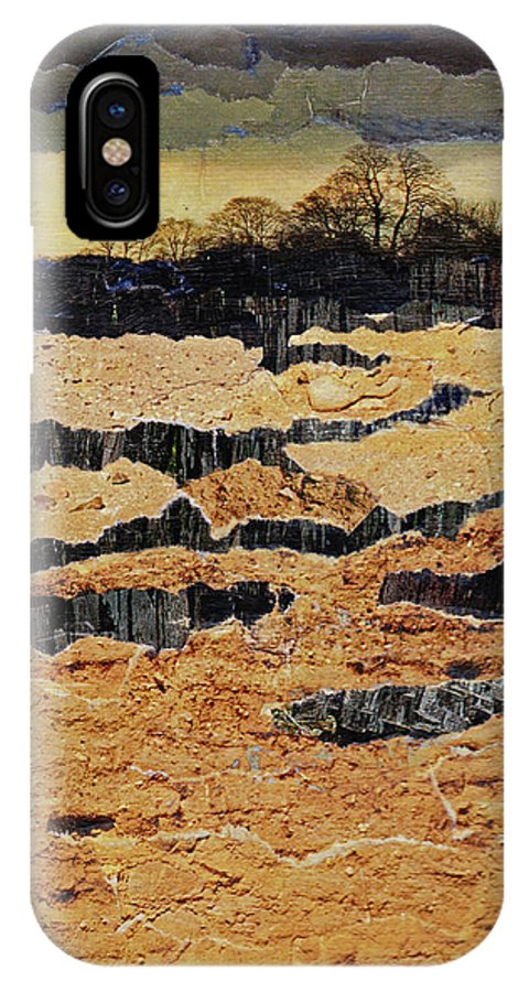 Calm IPhone X Case featuring the mixed media The Calm Before by Cindy Johnston