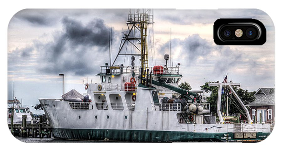 Cape Hatteras. Ship IPhone X Case featuring the photograph The Cape Hatteras by Stan Ramsay