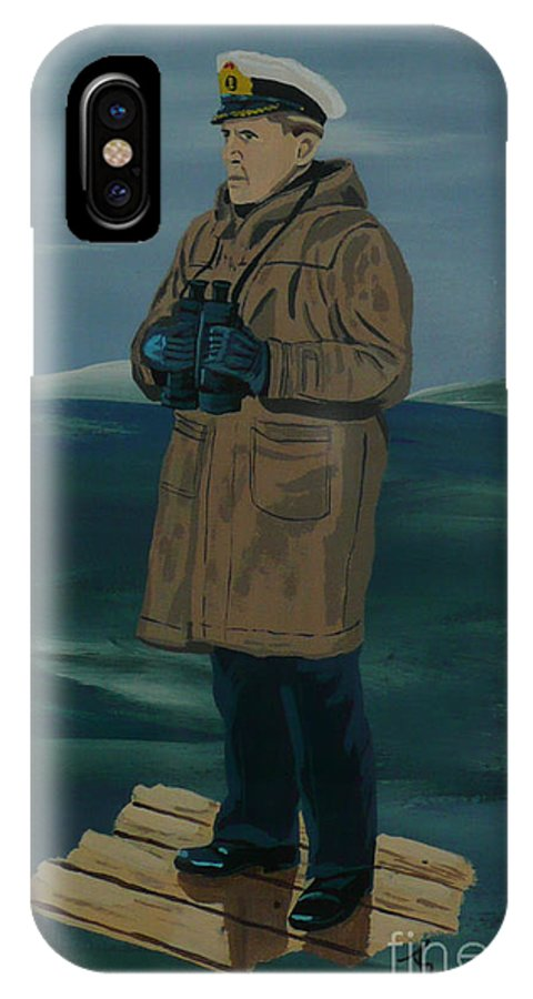 Captain IPhone X Case featuring the painting The Captain by Anthony Dunphy