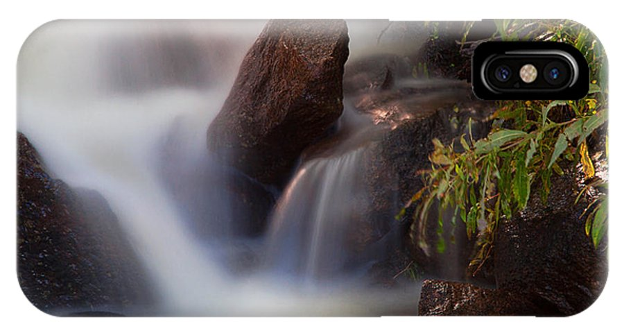 Waterfall IPhone X Case featuring the photograph The Cascades by Jim Garrison