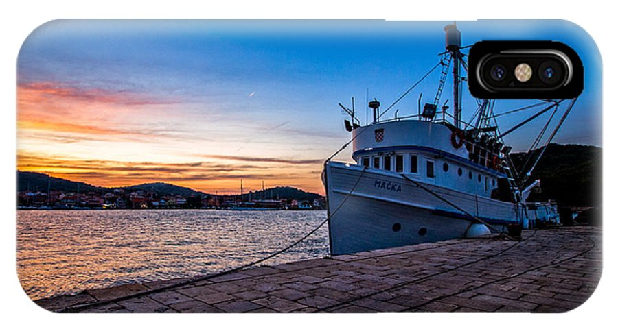 Fishing Boat IPhone X Case featuring the photograph The Cat by Davorin Mance