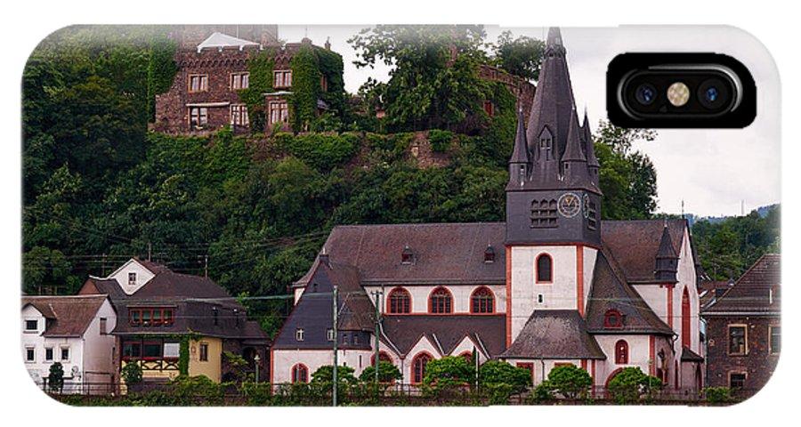 Alankomaat IPhone X Case featuring the photograph The Church And Heimburg In Niederheimsbach Am Rhein by Jouko Lehto