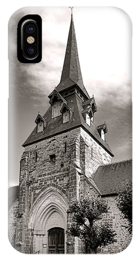 France IPhone X Case featuring the photograph The Church With The Dormers On The Steeple by Olivier Le Queinec