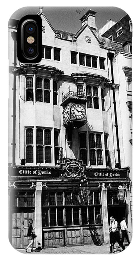 Cittie IPhone X Case featuring the photograph the cittie of yorke pub on high holborn London England UK by Joe Fox