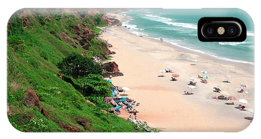 Arabian Sea IPhone X Case featuring the photograph The Cliffs At Varkala Beach Overlooking by Steve Roxbury