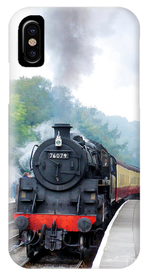 Goathland IPhone X Case featuring the photograph The Climb Into Goathland Station by Tess Baxter