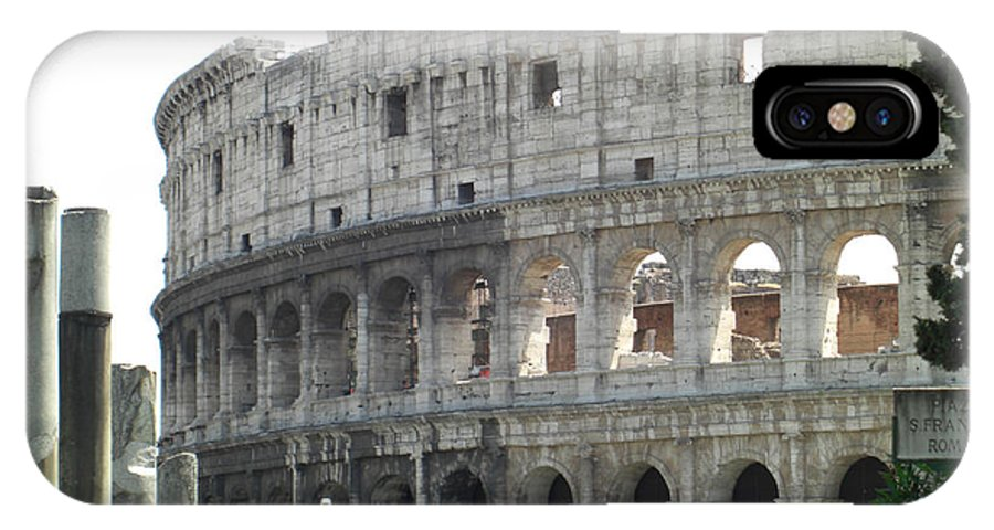 Rome IPhone X Case featuring the photograph The Coliseum by Deborah Smolinske