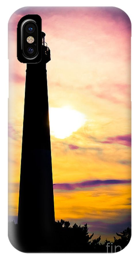 Lighthouse IPhone X Case featuring the photograph The Color Of Night by Colleen Kammerer