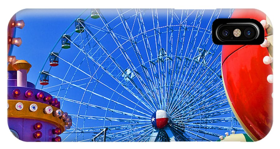 Carnival IPhone X Case featuring the photograph The Colors Of The State Fair Of Texas by David and Carol Kelly