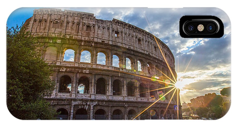 Flavian IPhone X Case featuring the photograph The Colosseum by Mircea Costina Photography