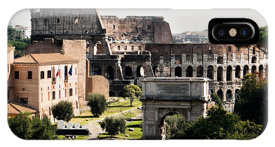 Rome IPhone X Case featuring the photograph The Colosseum Through The Forum by Weston Westmoreland